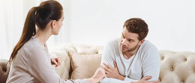 Couples having empathic conversation